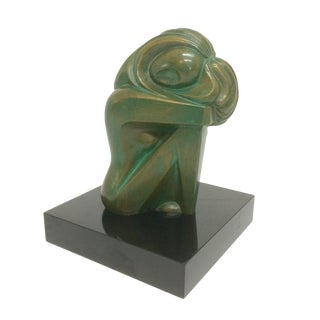 Mid Century Art Deco Bronze Nude Sculpture by Jose Ledesma Zavala