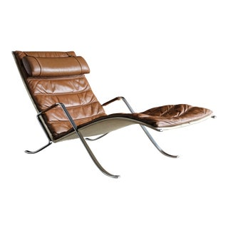 Preben Fabricius and Jørgen Kastholm Grasshopper Chaise for Alfred Kill For Sale