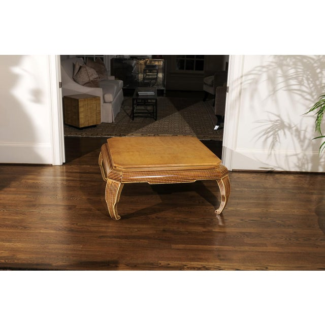 Mid-Century Modern An Exquisite Hand-Painted Coffee Table by Alessandro for Baker, Circa 1985 For Sale - Image 3 of 10