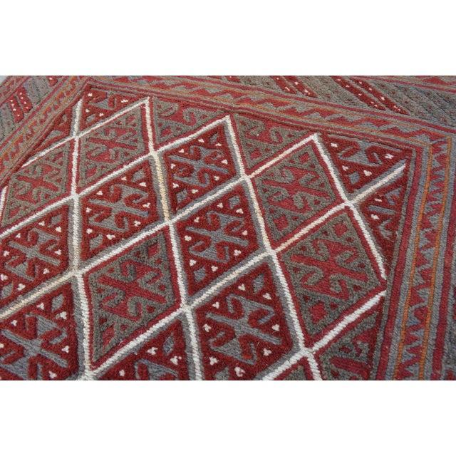 "Islamic Vintage Tribal Turkish Kilim Rug - 3'9"" x 4' For Sale - Image 3 of 5"