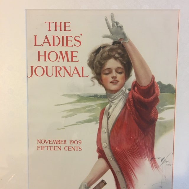 1909 Vintage Harrison Fisher Ladies Home Journal Cover Print For Sale - Image 4 of 10