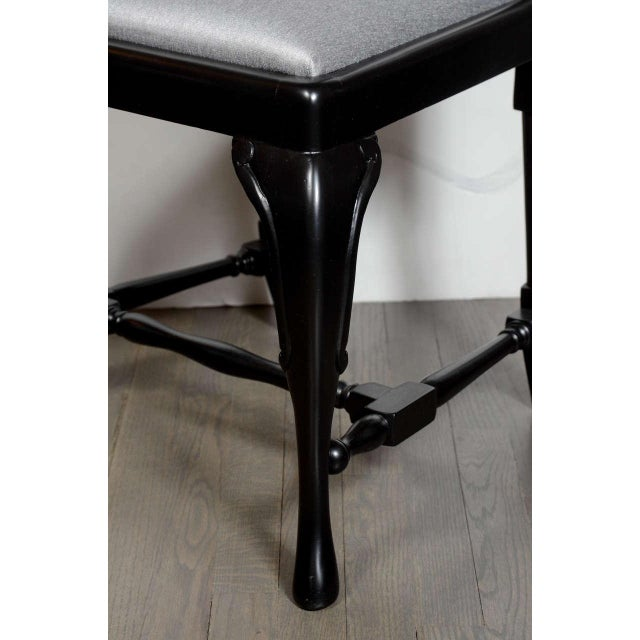 1950s Set of Mid-Century Dining Chairs with Cabriole Detailing by Jansen For Sale - Image 5 of 9
