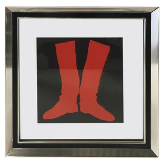 "Jim Dine ""Two Boots"" Silkscreen, 1968 For Sale"