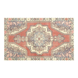 """1960s Turkish Oushak Rug - 4'2"""" X 6'11"""" For Sale"""