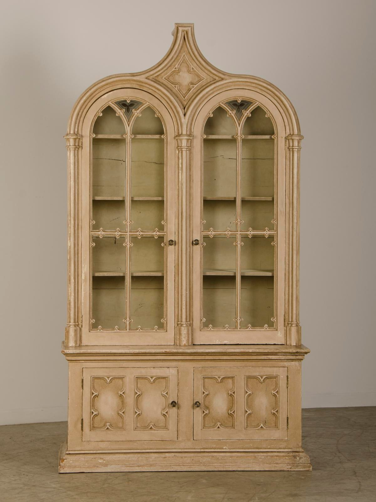 """Society Hill Kitchen Cabinets: Superb English Gothic Revival """"Strawberry Hill"""" Painted"""
