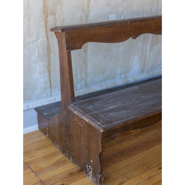 Brown Italian Antique Church Pew For Sale - Image 8 of 12