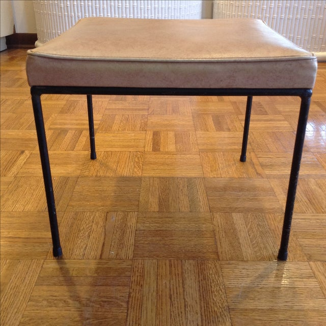 1950s Vintage Frederic Weinberg Wrought Iron Stool - Image 3 of 6