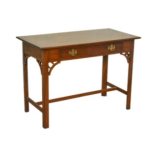 Kittinger Colonial Williamsburg Adaptation Solid Mahogany Chippendale Style Writing Desk (B)