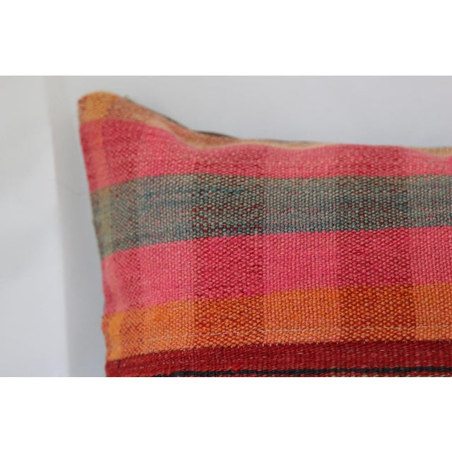 Turkish Handmade Wool Kilim Pillow Cover For Sale - Image 5 of 8