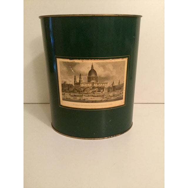 Green Harrod's English Waste Paper Bin For Sale - Image 8 of 8
