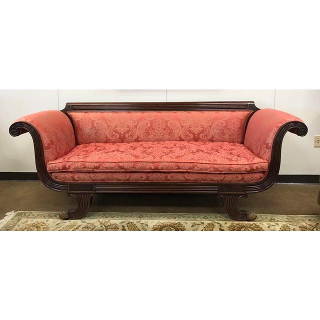 Antique Sofa Duncan Phyfe: Antique Duncan Phyfe Carved Mahogany Sofa