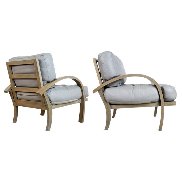 1984 Leather Lounge Chairs for Steve Chase Designed Home - a Pair For Sale