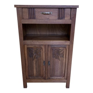 Mid-20th Century Oak Wood Cabinet For Sale