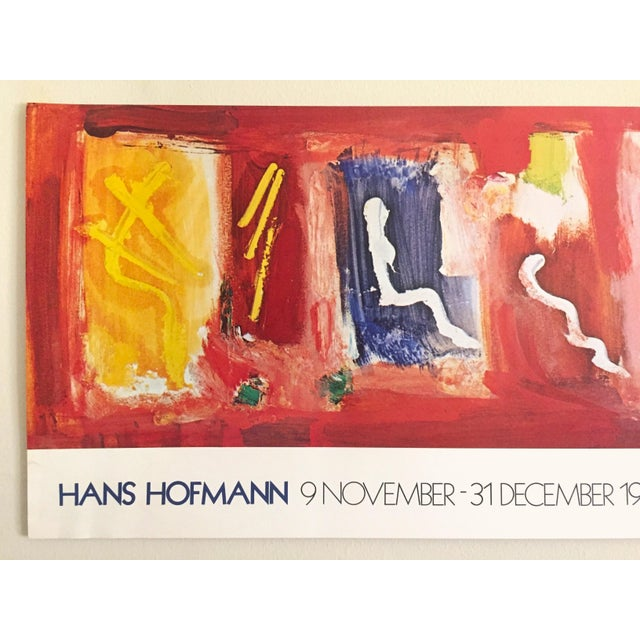 This Hans Hofmann rare 1974 Abstract Expressionist lithograph print exhibition poster is an incredibly special and unique...