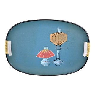 Mid-Century Tilso Hand Painted Tray For Sale