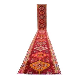 Hand-Knotted Kurdish Runner Rug. Tribal Extra Long Runner. Herki Rug - 2′3″ × 18′4″ For Sale