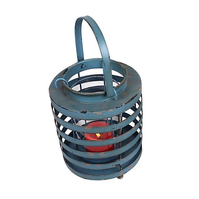 Rustic Metal Lantern Candle Holders - Set of 2 - Image 3 of 3