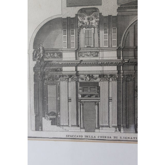 Early 19th Century Early 19th Century Antique Spaccato De La Chiesa Architectural Print For Sale - Image 5 of 12