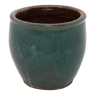 Green Glazed Pickling Pot For Sale