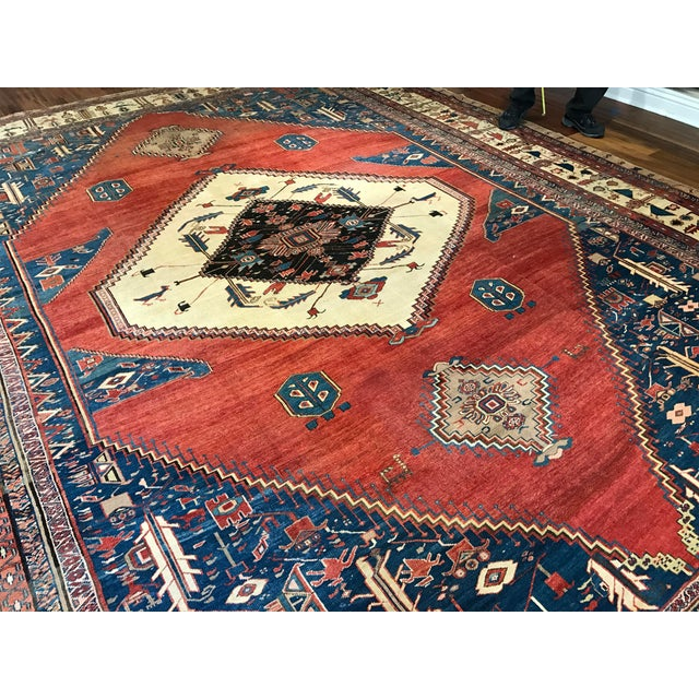 Antique Persian Bakshaish Rug - Image 2 of 6