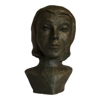 Mid 20th Century Bust of a Woman For Sale