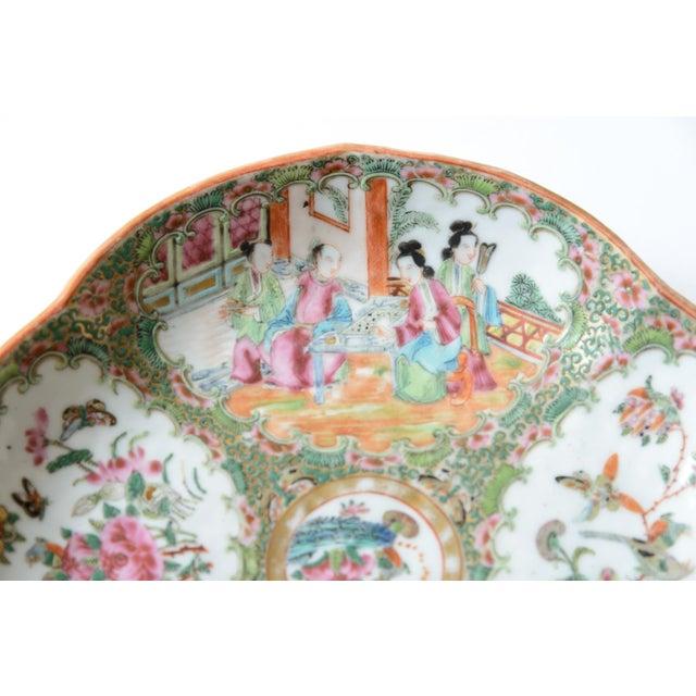 Asian Rose Medallion Shrimp Dish For Sale - Image 3 of 6