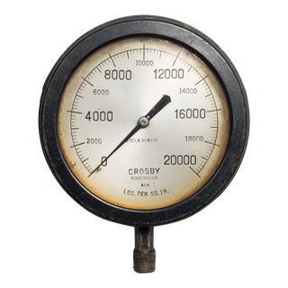 Early 20th C. Steel Pressure Gauge C. 1920 For Sale