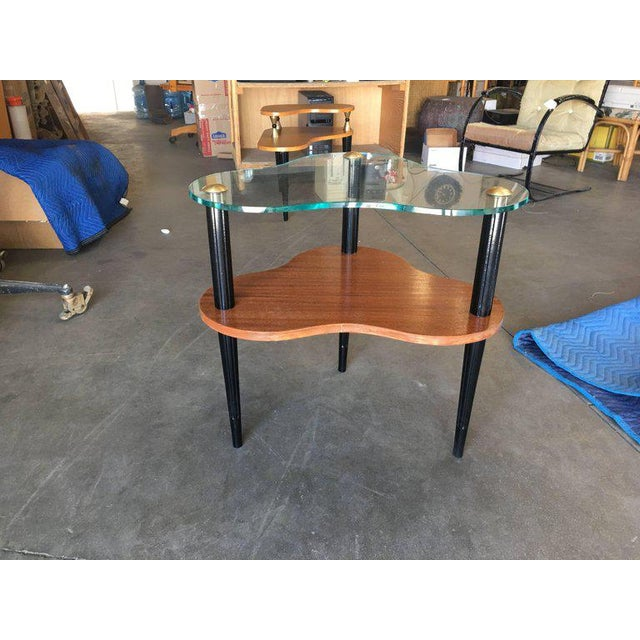 Brown Gilbert Rohde Two-Tier Mid-Century Cloud Coffee Table For Sale - Image 8 of 10