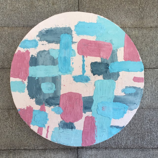 Pine Disc & Plaster Abstract Painting For Sale - Image 10 of 10
