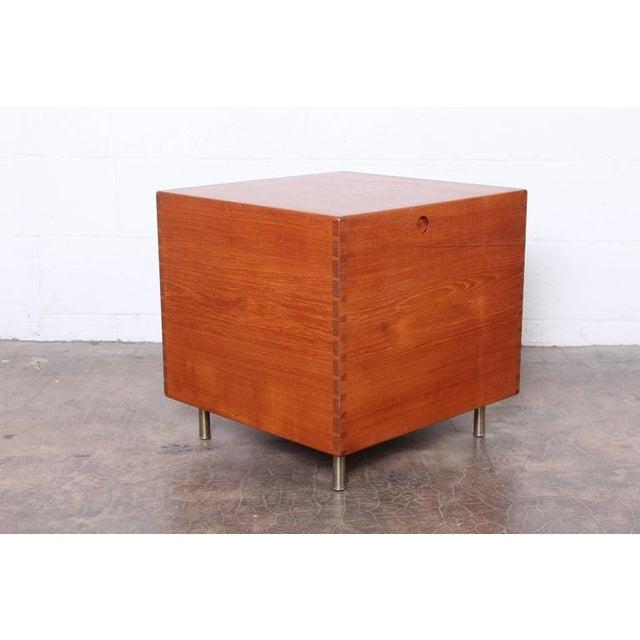 Andreas Tuck Hans Wegner Teak Cube Bar For Sale - Image 4 of 10