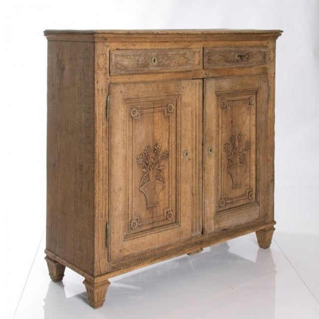 19TH CENTURY BLEACHED OAK BUFFET For Sale - Image 4 of 10