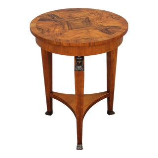 """Neoclassic Style """"Baker"""" Bronze Burl Amboyna Accent/ Side Table"""