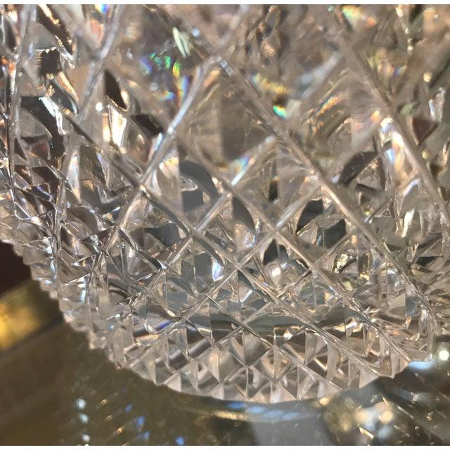 Late 19th Century Diamond Cut Crystal Vase For Sale In Philadelphia - Image 6 of 11