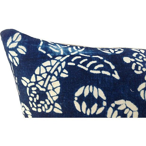 Shanghai Indigo Chinoiserie Batik Koi Fish Pillows - a Pair - Image 6 of 6
