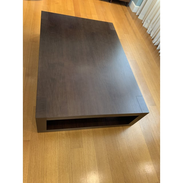 Christian Liaigre Contemporary Walnut Coffee Table For Sale - Image 10 of 13