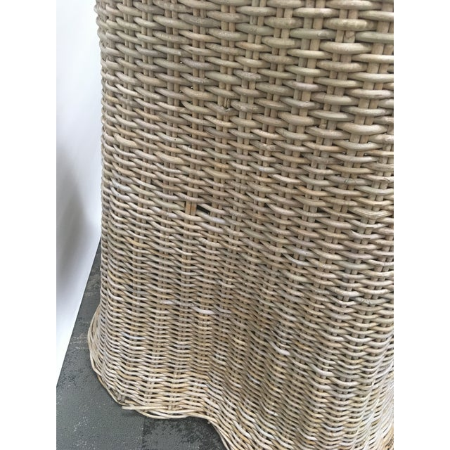 Purple Vintage Draped Wicker Center Table For Sale - Image 8 of 11