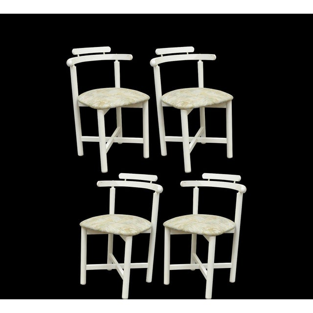 Set 4 Vintage Gangso Mobler Mid Century Danish Modern White Dining Room Chairs - Image 11 of 11