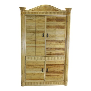 One of a Kind Bamboo Armoire For Sale