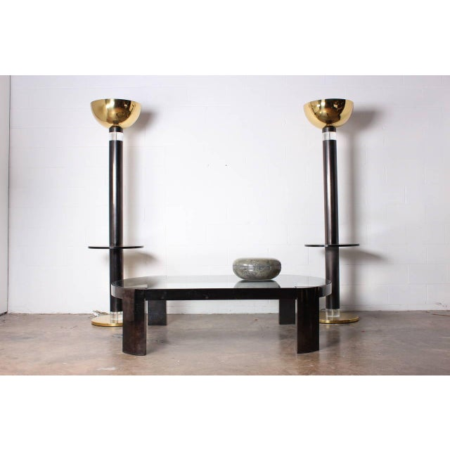 Monumental Pair of Torchieres by Karl Springer For Sale - Image 9 of 9