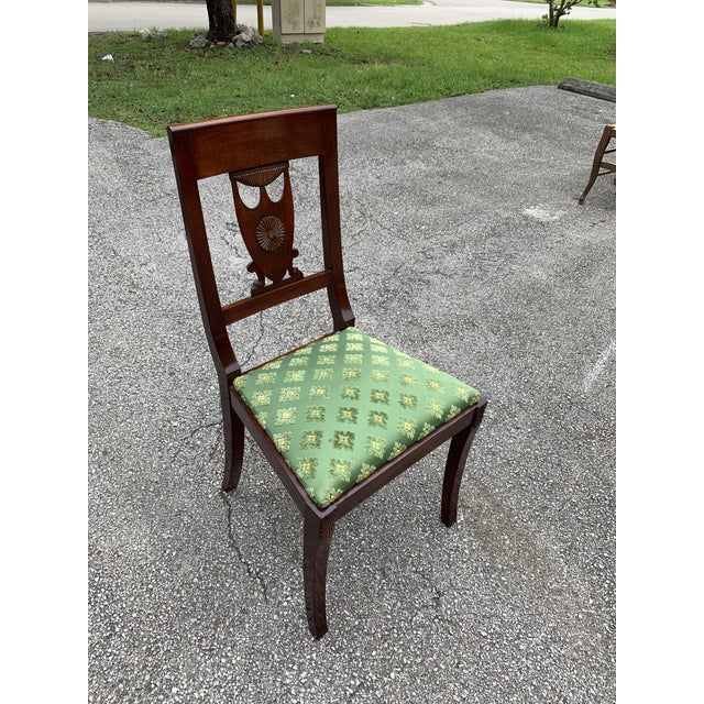 1910s French Empire Solid Mahogany Dining Chairs - Set of 6 For Sale - Image 10 of 13