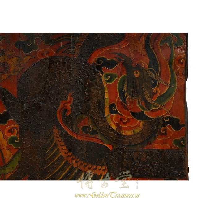 Antique Tibetan Painted Door Panel For Sale In Los Angeles - Image 6 of 9