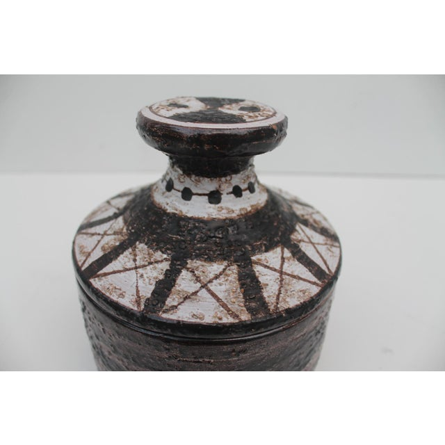Aldo Londi Aldo Londi For Bitossi Italian Studio Pottery Decorative Lidded Bowl For Sale - Image 4 of 7