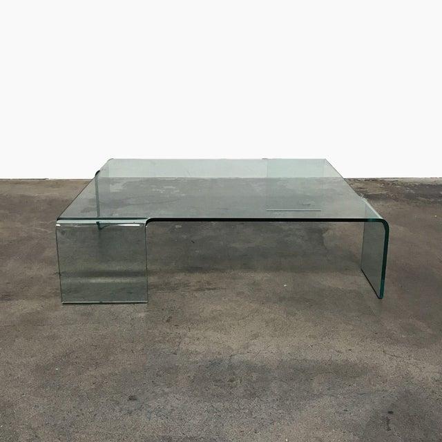 "Fiam Italia Rodolfo Dordoni for Fiam ""Neutra"" Glass Coffee Table For Sale - Image 4 of 4"