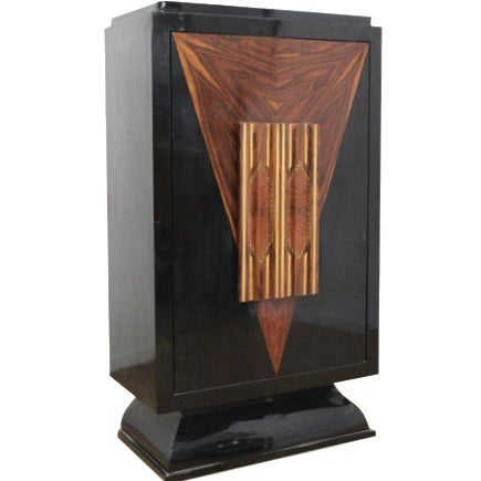 Art Deco Revolving Bar Cabinet For Sale