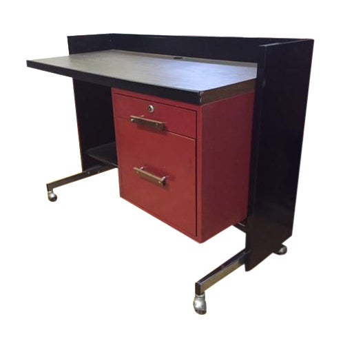 Designcraft 2 Drawer Industrial Desk - Image 1 of 9