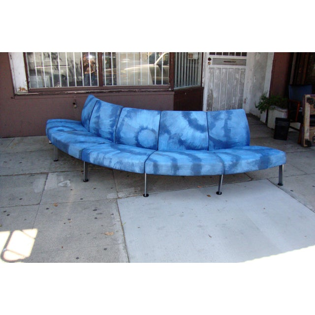 Modern Semi Round Sofa For Sale - Image 10 of 13