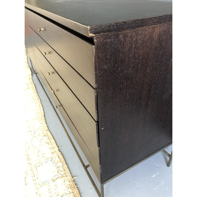 1960s Mid Century Paul McCobb for Calvin Irwin Collection Dark Brown Finish and Brass Buffet For Sale - Image 5 of 13