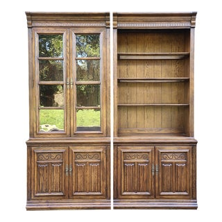 Ethan Allen Royal Charter Oak Wall Units/Bookcases - a Pair For Sale