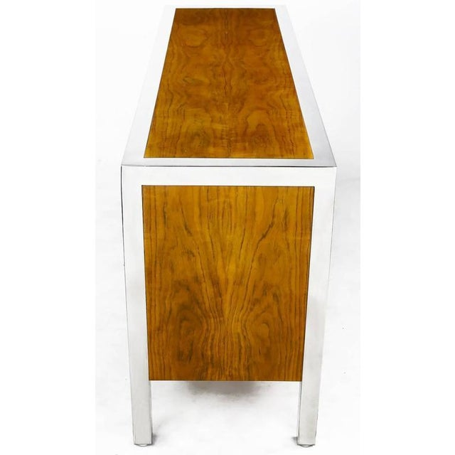 Pace Collection Pace Collection Koa Wood and Polished Steel Cabinet For Sale - Image 4 of 9