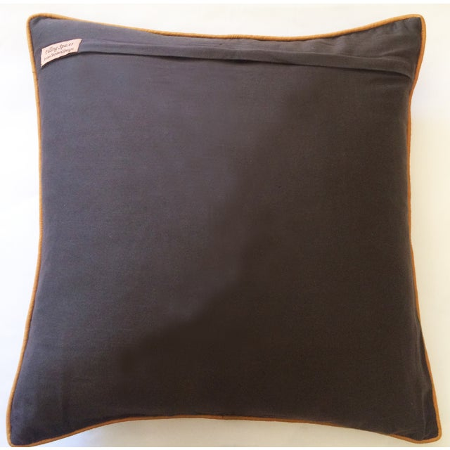 Brown & Gold Brocade Pillow Cover - Image 3 of 4